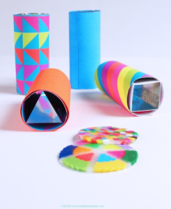 DIY kaleidoscopes for kids