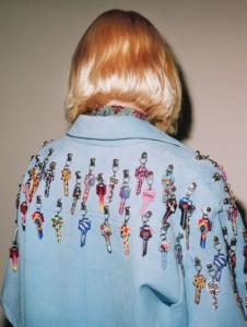 Adult upcycled denim jacket