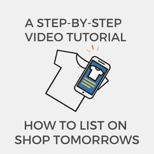 How to List an Item on Shop Tomorrows